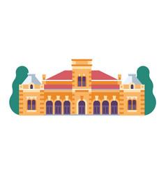 Novi sad castle edseg palace icon in flat vector