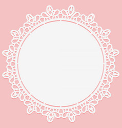 openwork lace round doily suitable for laser vector image