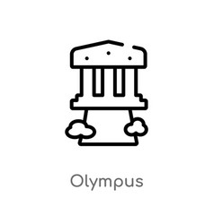 Outline olympus icon isolated black simple line vector