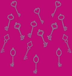 pattern keys vector image