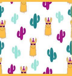 pattern with llama vector image