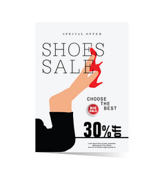 poster of shoes sale vector image