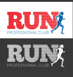 Run professional club collection of two pictures vector