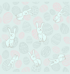seamless background to easter with eggs and vector image