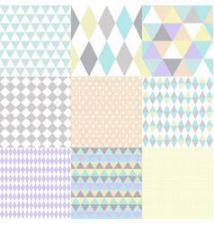 set geometric patterns image vector image