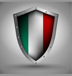 Shield with the inalian flag vector