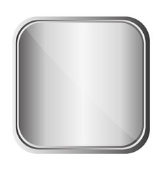 Silver metal bacground icon vector