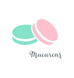simple macarons icon vector image