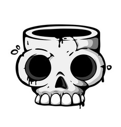 skull icon t-shirt print or tattoo template vector image