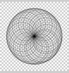 spirograph element on isolated background vector image