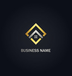 square realty house company logo vector image