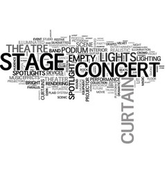 stage word cloud concept vector image