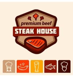 Steak house logo vector