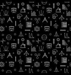 stem learning dark outline seamless pattern vector image