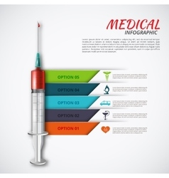 Syringe for infographics vector