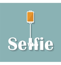 Taking Selfie Photo on Smart Phone hand hold vector