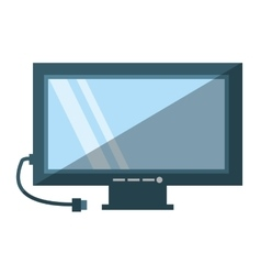 Tv electronic house appliance shadow vector
