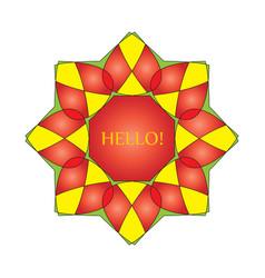 Wreath emblem a symbol of a red octagonal 2 vector