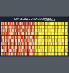 Yellow orange chrome gradient setpattern vector