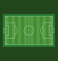 football field aerial view on green background vector image
