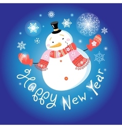 New large snowman vector image vector image