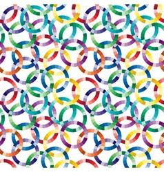 Seamless cuted circle pattern vector image vector image