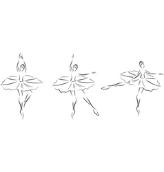 Set of ballerinas vector image