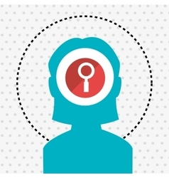 silhouette search loupe icon vector image
