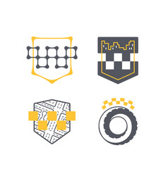 taxi car service symbol set vector image vector image