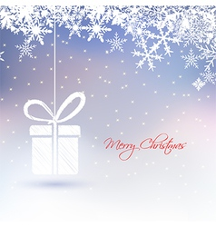 abstract Christmas greeting card with gift box vector image vector image