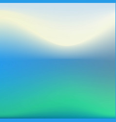 background in blue green tones blurred vector image vector image