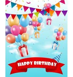 Birthday celebration background vector image vector image