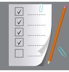 Check list button icon vector image