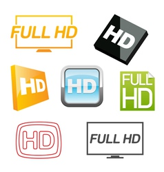 hd icons set vector image vector image