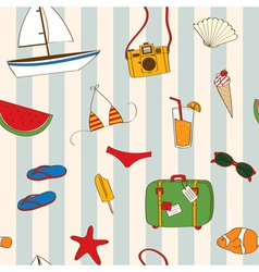 Summer seamless vector image vector image