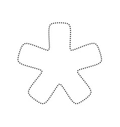 asterisk star sign black dotted icon on vector image