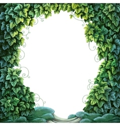 Frame for text decoration enchanted forest from vector