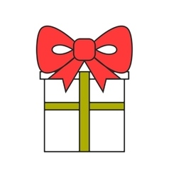Gift box Packing for surprise Flat color icon vector image