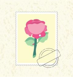 Postage stamp rose vector