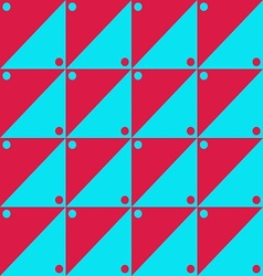 Red and blue simple pattern vector image