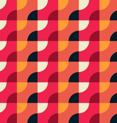 Retro Geometric Red Pattern vector image