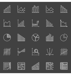 Statistics icons collection vector image vector image
