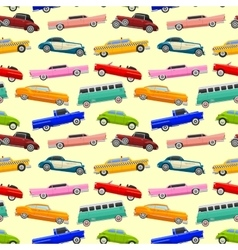 Colorful seamless pattern with limousines vector image vector image