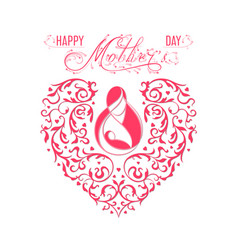 happy mother s day card vector image vector image