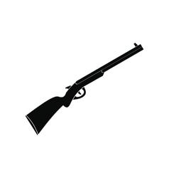 Hunting shotgun black simple icon vector image vector image