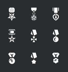 set of military award icons vector image
