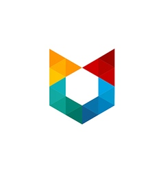 triangle colorful abstract logo vector image vector image
