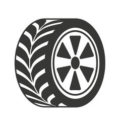 wheel car isolated icon design vector image