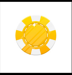 yellow casino chip cartoon style isolated vector image