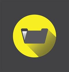 0210y flat folder icon vector